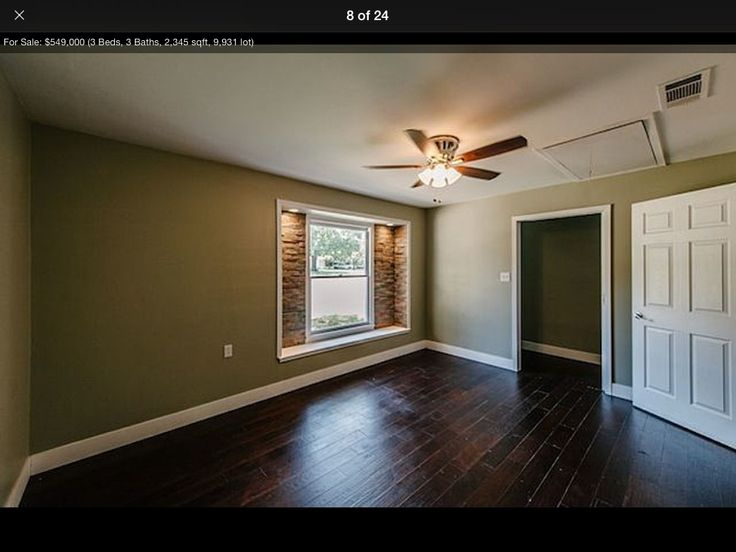 Green Walls And Dark Wood Flooring Home Sweet Home