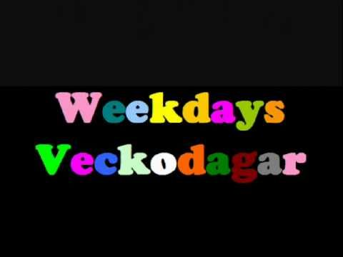 ▶ Learn Swedish: Weekdays (and sentences and words) - YouTube