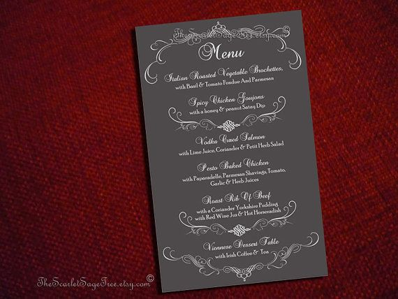 7 best images about menu design ideas on pinterest wedding ceremony programs place settings. Black Bedroom Furniture Sets. Home Design Ideas
