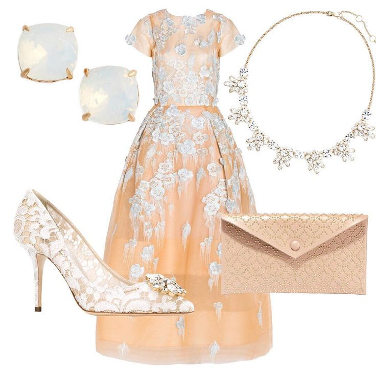 Ladylike with lace and floral details, this look from the WedLuxe Global Trend Report is perfect for your upcoming bridal shower. | WedLuxe Magazine | #wedding #luxury #weddinginspiration #luxurywedding #bridal #fashion