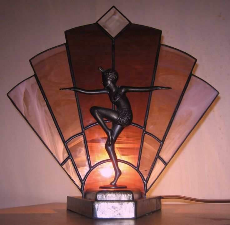 10 best stained glass lamp shadesfans images on pinterest stained purple art deco fan with flapper fan base stained glass lamp shadespurple aloadofball Image collections