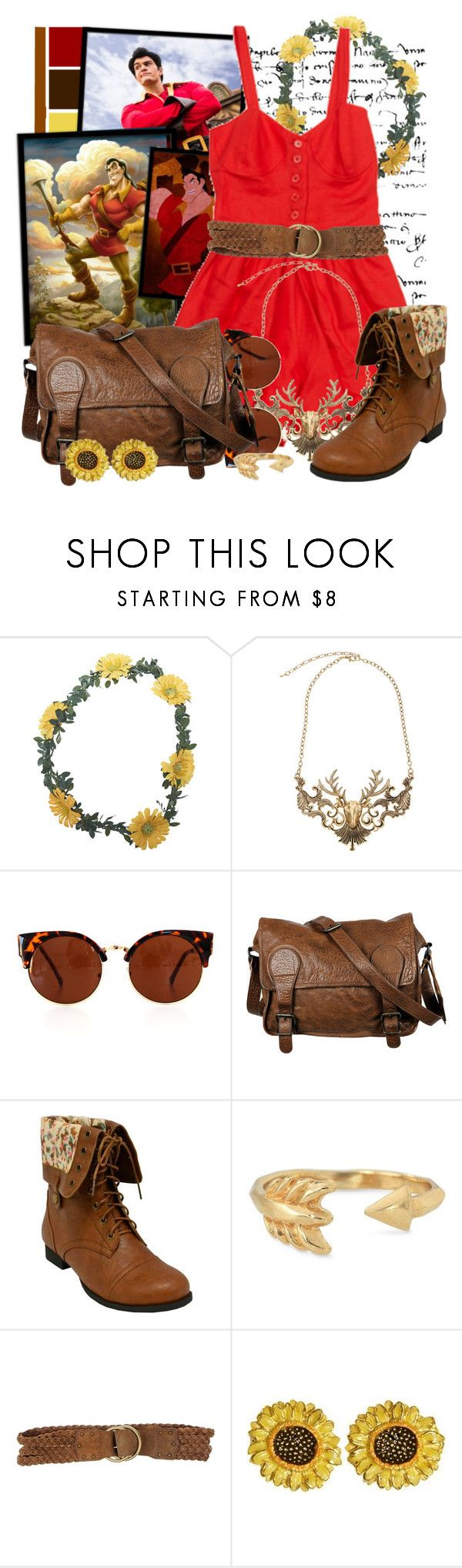 """Gaston"" by totallytrue ❤ liked on Polyvore featuring Wet Seal, Disney, Samantha Pleet, VIPARO, Stella & Dot and Polo Ralph Lauren"