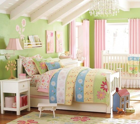 Baby girl and big sister room :)