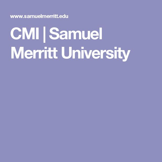 CMI | Samuel Merritt University