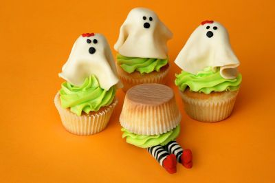 Ghost and Witch Cupcakes