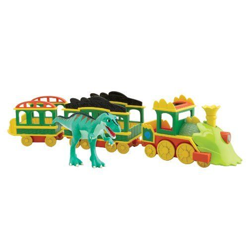 Dinosaur Train - Collectible Dinosaur Train With Lights And Sounds by Rc2. $30.89. 3-car plastic train. Includes the Laura Gigantosaurus collectible dinosaur. Lights and sounds Dinosaur Train. Based on the new Henson PBS show, the Dinosaur Train. Over 5 different phrases. From the Manufacturer                Based on the new Henson PBS show, the Dinosaur Train collectible segment enables children to collect all of their favorite Dinosaur Train characters, while also ex...