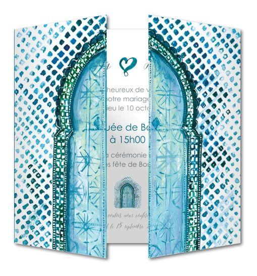 Faire part mariage Porte marocaine (RFE-400)