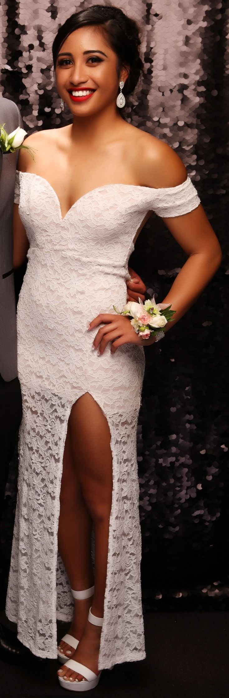 St Peter's Ball 2015. Love this lace look! www.whitedoor.co.nz