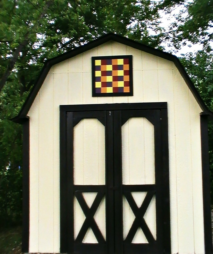 Mini barn quilt for your garden shed barn quilt blocks for Garden shed quilting
