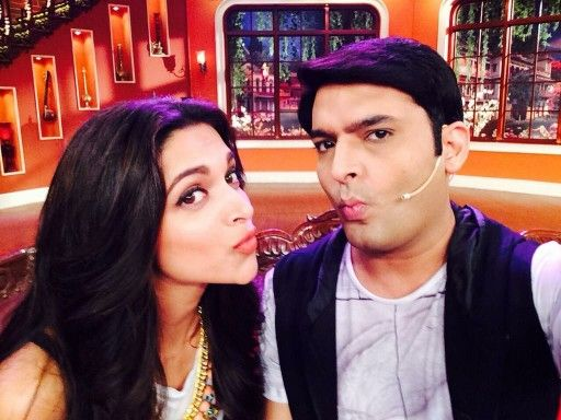 Deepika promoting fin.. Fannny on the set if cnwk