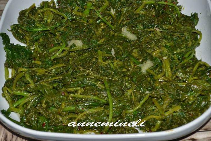 Hardal Otu Salatası                        -  Zehra Şener #yemekmutfak