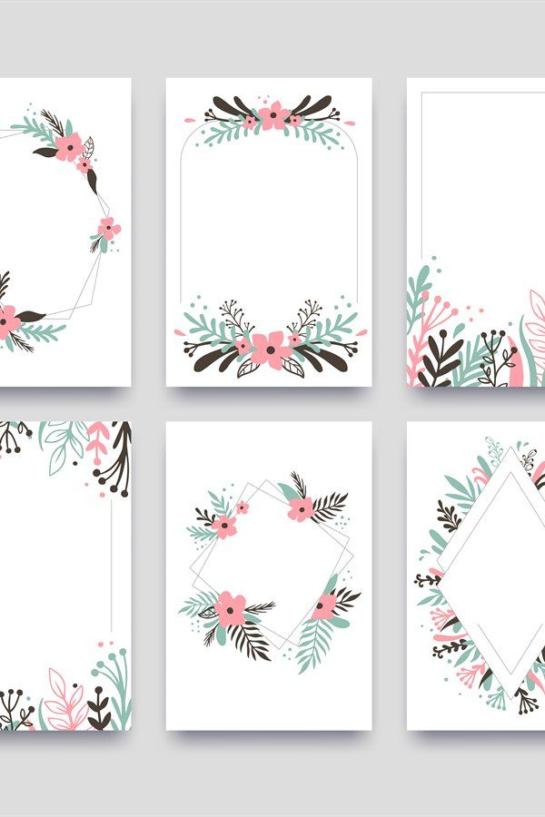Download Floral Ornament Invitation Card Willow Leafs Frame Border 988338 Objects Design Bundles Floral Objects Design Invitation Cards