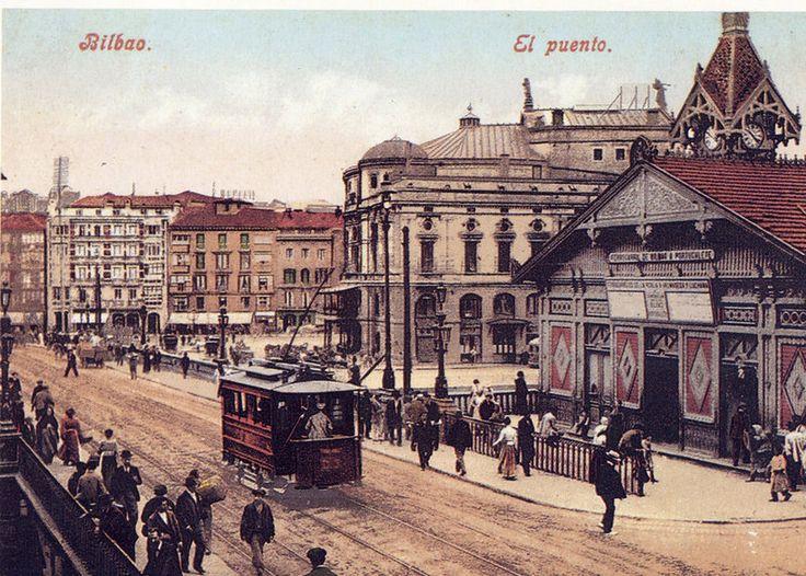 Arriaga y estación de tren Bilbao