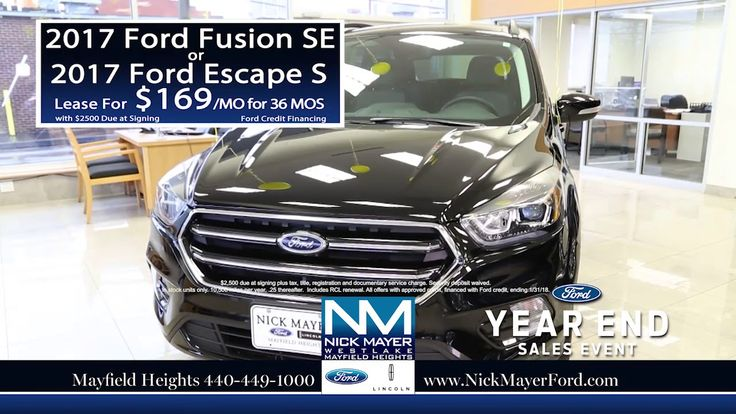 Buy a New Ford Escape Mayfield Heights OH at Nick Mayer Ford - Our Year-...