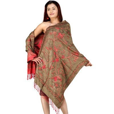 #Designer Reversible Pure Kashmiri #Scarf Stole 129