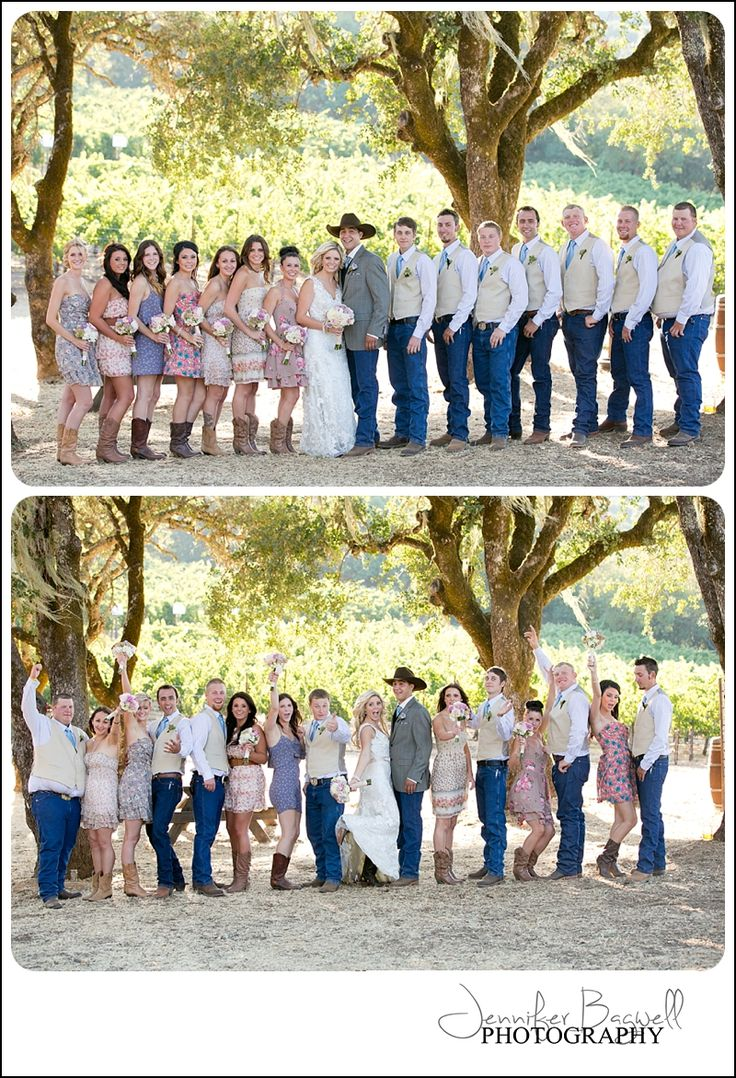 This is totally going to be my wedding!! Love it!!    Country Chic  anything but ordinary!  {Sonoma County Wedding Photographer, Country Chic Wedding, Country Wedding, Cowboy boots with wedding dress, vintage wedding decor}