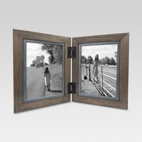 Threshold 2 Opening Hinged Windowpane Frame 5 X7 Coffee Home Sweet Home Home Decor Pictures Frame Picture Frames