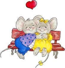 happy valentine 39 s day dessins animaux pinterest souris mimi la petite souris et bisous calins. Black Bedroom Furniture Sets. Home Design Ideas