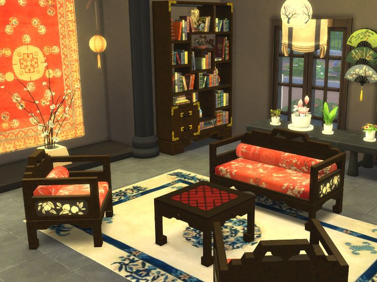 Leander Belgraves Asian Living Set A Sims 3 To Sims 4