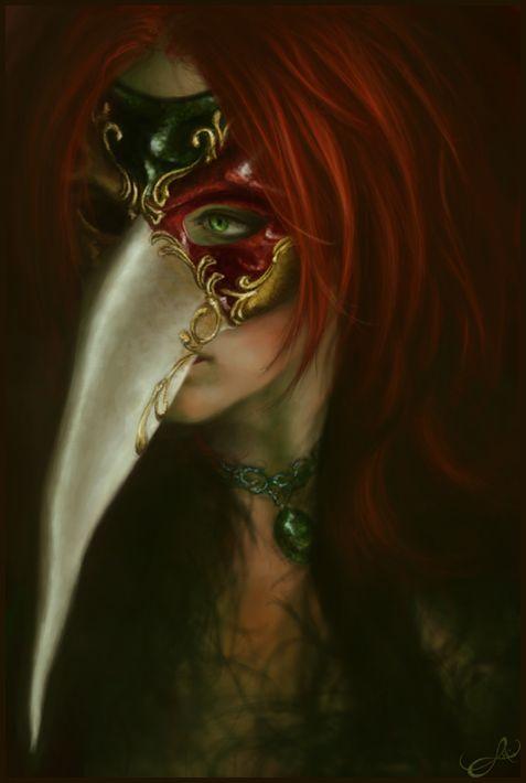 Masquerade by navate. #mask #macabe #masquerade