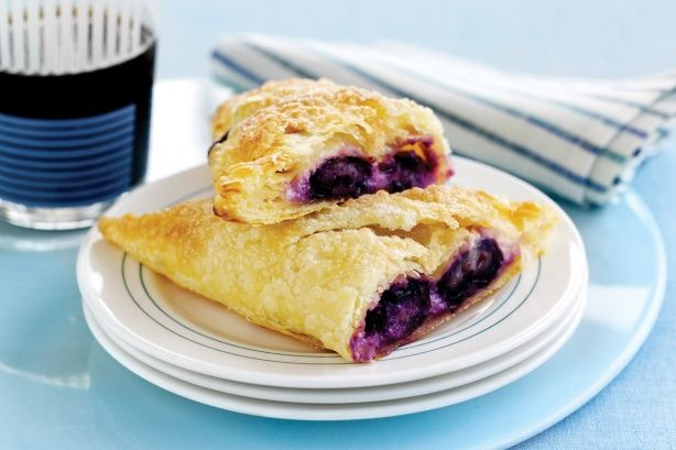 cream cheese blueberry triangles