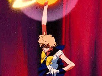 Sailor Uranus attack. via: http://sashayshante.tumblr.com/post/75725499774