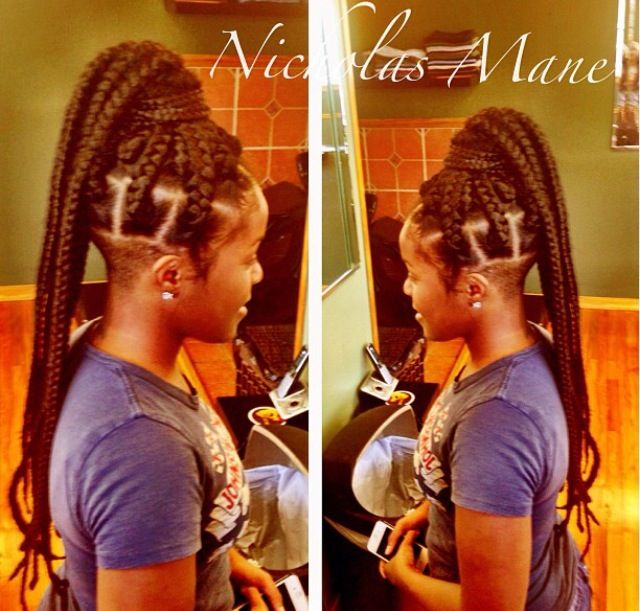 I have same undercut but would make braids a little smaller