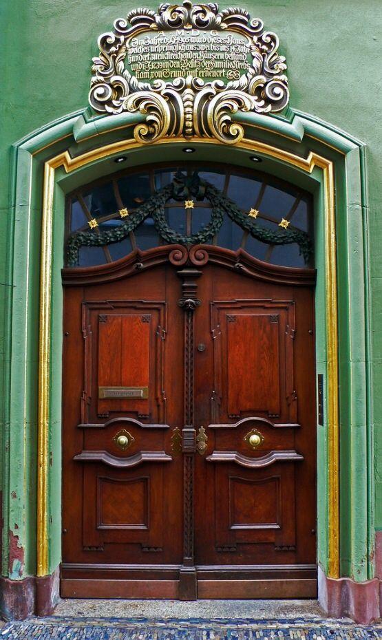 Door, Freiburg, Baden-Württemberg, Germany.