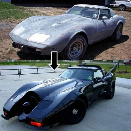 Batmobile Art Car Before After Shots Cool Cars Pinterest