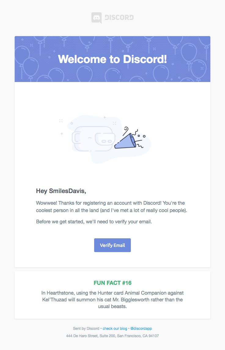 discord how to change verification email
