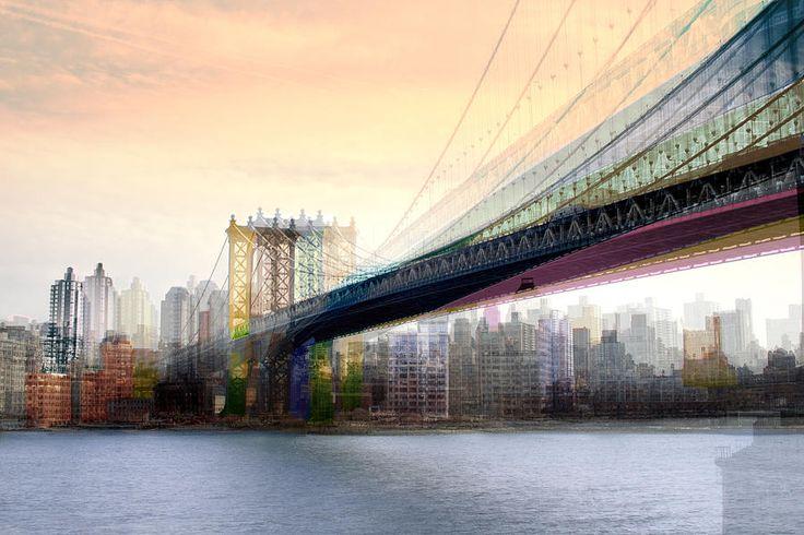 New York City - Manhattan Bridges by Dave Beckerman