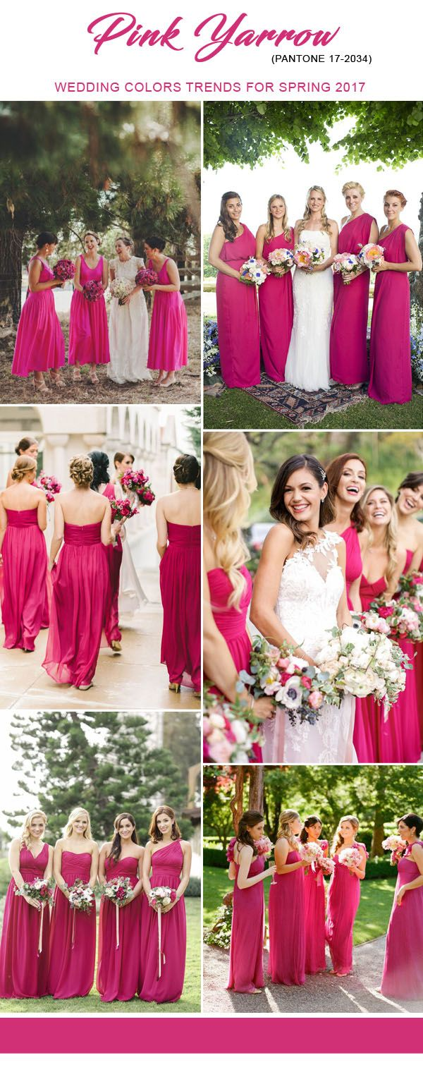 Ideias para o seu casamento na cor Pink Yarrow - Pantone 2017