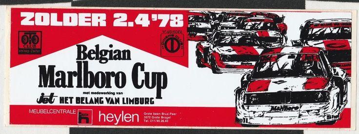 BELGIAN MARLBORO CUP ZOLDER 1978 ORIGINAL RACE STICKER AUTOCOLLANT BMW 2002 935