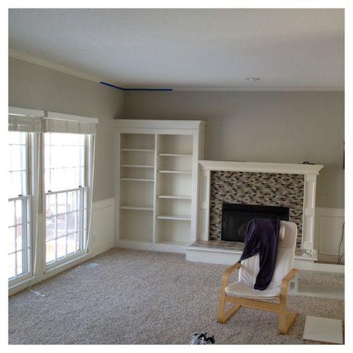 Tan Bedroom Benjamin Moore Manchester Tan And Beige: Living Room After Rever Pewter & Carpet Color