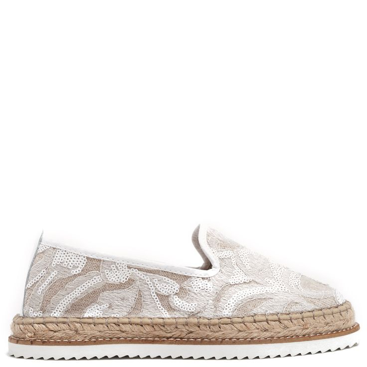 White #espadrille with sequins