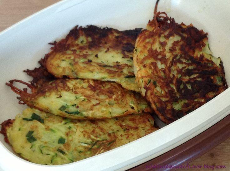Rostis de pommes de terre et courgettes sans oeuf, lait, gluten ..., un délice :)