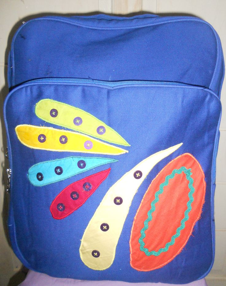 colorfully blue backpack