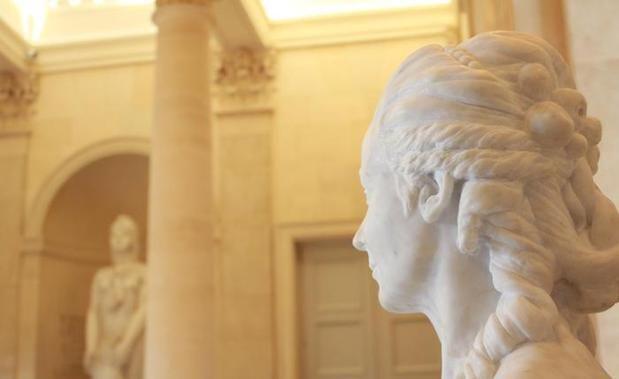 L'œuvre de Fabrice Gloux, sculpteur, et Jeanne Spehar, conceptrice dans la salle des Quatre-Colonnes. - L'œuvre de Fabrice Gloux, sculpteur, et Jeanne Spehar, conceptrice dans la salle des Quatre-Colonnes.