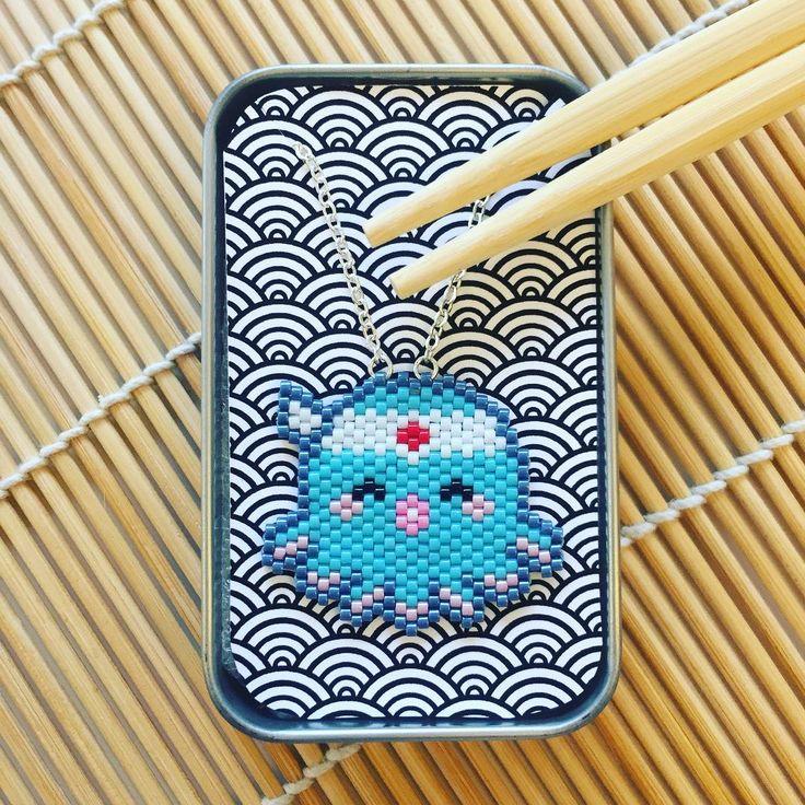 """57 Me gusta, 1 comentarios - Adeline M (@lesbijouxacidules) en Instagram: """"Petit nouveau!   création de petits colliers kawaii pour la Japan expo  #japanexpo #miyukibeads…"""""""