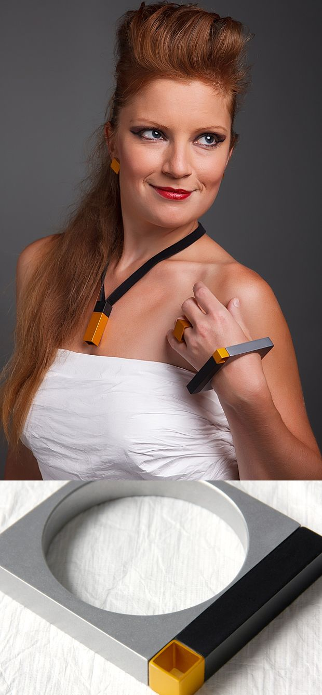 TRITON bracelet-NEOLOGIC collection. Tomas Holub - minimalist jewelry made of anodized and polished aluminum. Enjoy your own piece of aluminum!