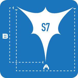 Lycra Sails - S7: 6 Point Sails