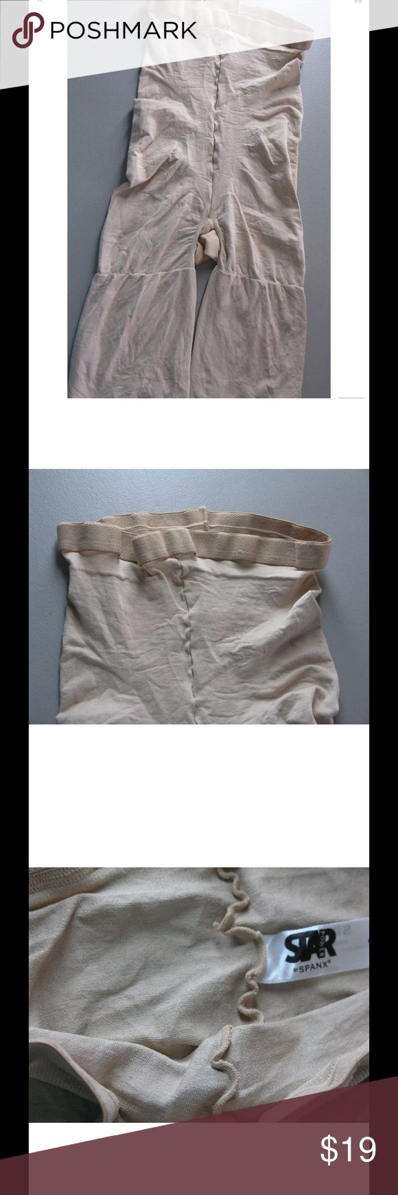Spanx Shapewear Shaper Shorts Mid Thigh Star Power Spanx Shapewear Shorts High Waist Mid Thigh Shaper Star Power Nude Size E  Elastic waist Soft material Slims/firms and shapes Size E New without tags, Dept store return. Does not appear to have been worn. SPANX Intimates & Sleepwear Shapewear