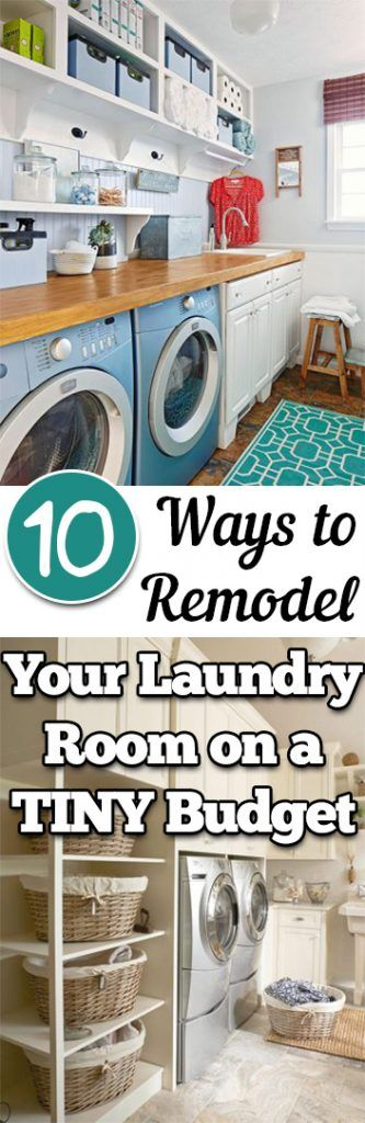 10 Ways To Remodel Your Laundry Room On A TINY Budget