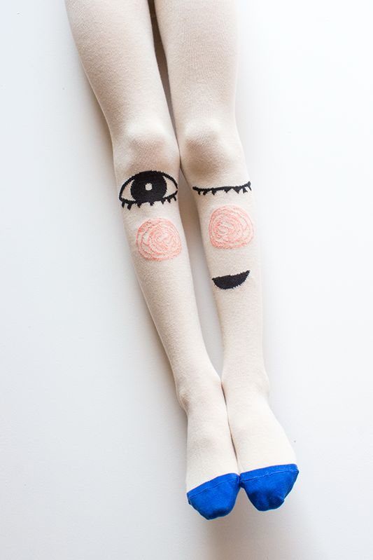 cheeky grin tights | little titans