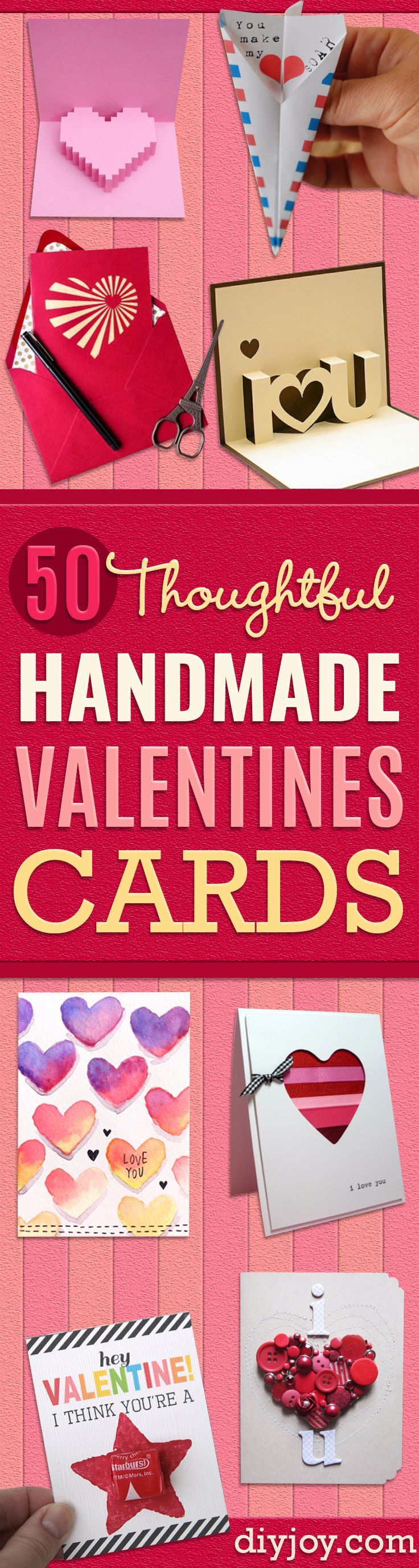 DIY Valentines Day Cards - Easy Handmade Cards for Him and Her, Kids, Freinds and Teens - Funny, Romantic, Printable Ideas for Making A Unique Homemade Valentine Card - Step by Step Tutorials and Instructions for Making Cute Valentine's Day Gifts http://diyjoy.com/diy-valentines-day-cards