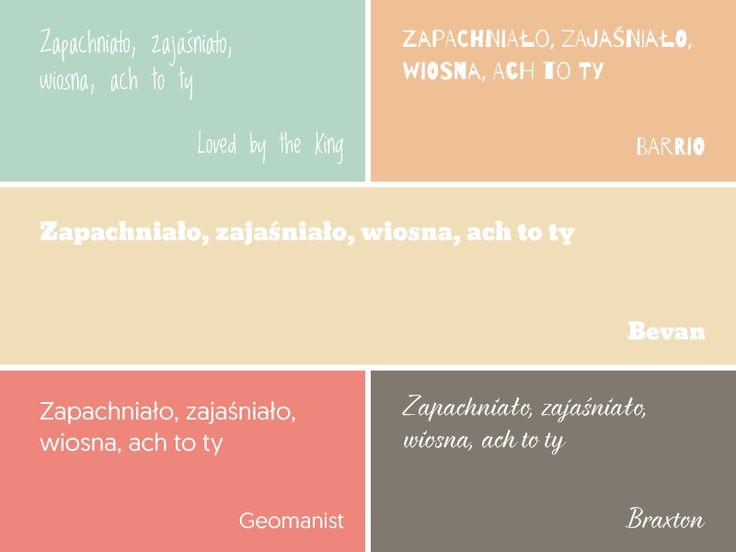 5 darmowych fontów + 3 palety kolorów | Wiosna | One Little Smile