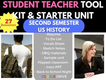 This US History Survival Bundle is a student teacher starter kit to give a student teacher / new teacher a number of different resources to be able to do some different activities in class. It covers the second semester, and you will get 27 tools to aid you. I will include my Google Drive Link to instantly download the Civil War Unit. #socialstudies #socialstudiesmegastore #UShistory #teacherresources