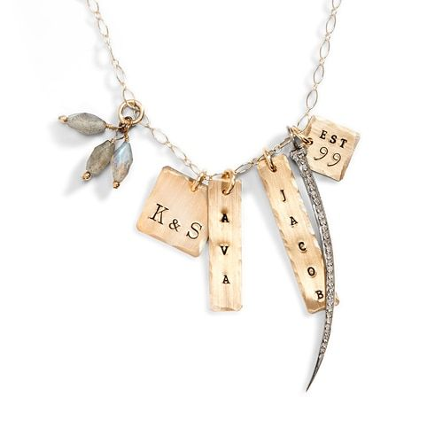 Imperial Palace Name Tag Necklace