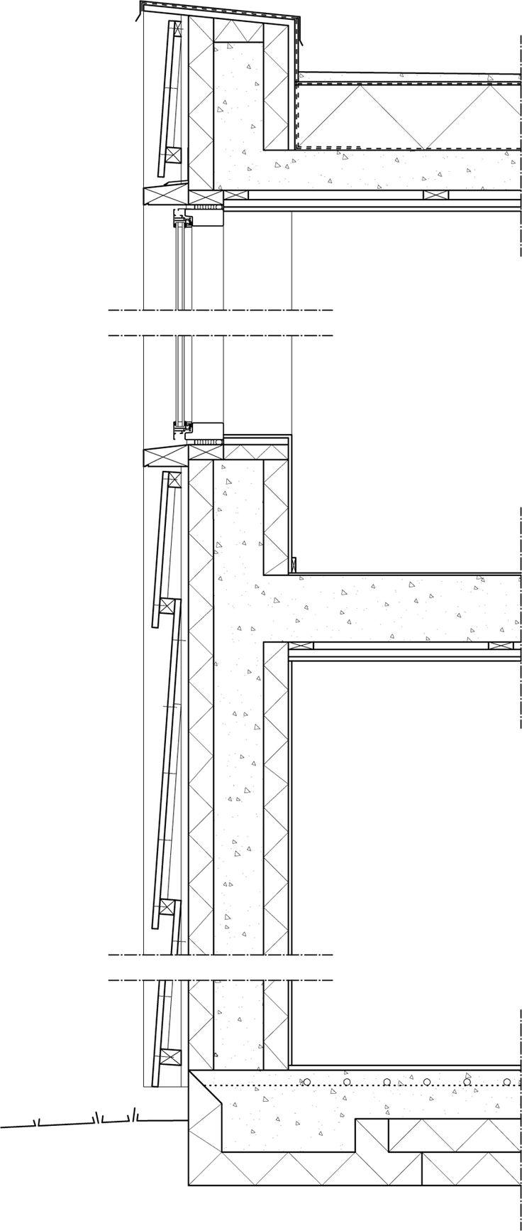 House K / Tham & Videgård Hansson Arkitekter with rain screen exterior and insulation/form concrete foundation.