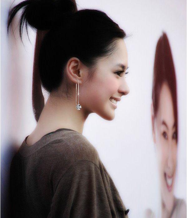 Fashion Jewelry Women Girl Long Chain Drop Earrings Fancy Dress Silver Plated Chain Earrings